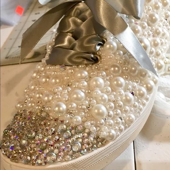 Handmade Shoes - Women s Bling Canvas Shoes c1852ca8e842